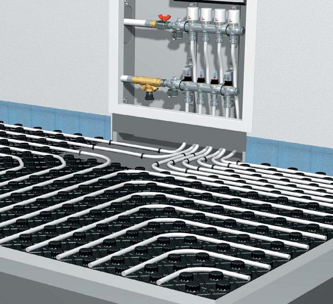 Водяной тёплый пол является полноценной системой отопления, способной заменить классическую радиаторную.
